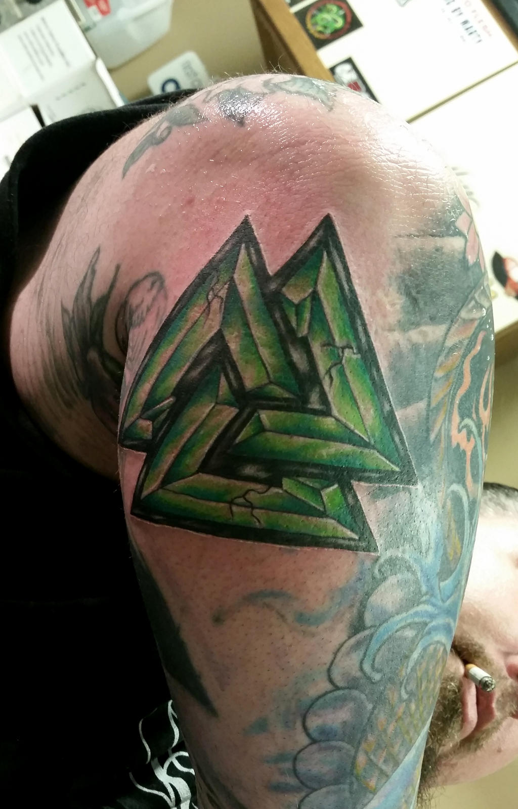 Valknut tattoo by danktat