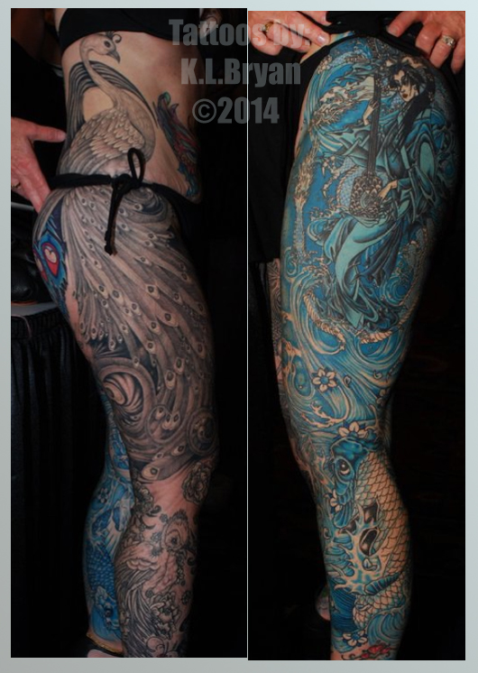 Two monocromatic leg sleeve tattoos by danktat on deviantart for Thigh sleeve tattoo