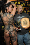 An award from the Philly Tattoo Convention