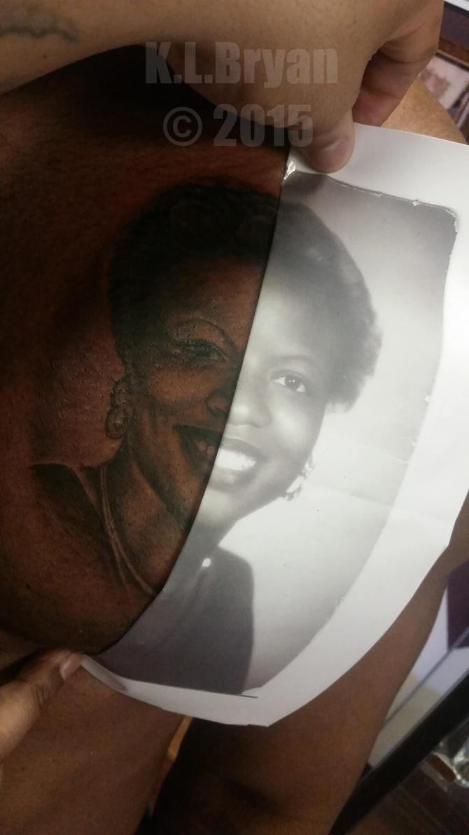 Another African American portrait tattoo by danktat