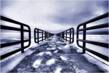 Winter's Long Walk by aquapell