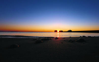 Sunrise And The Ferries