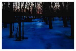 Winter's Last Sunset by aquapell