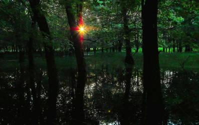 Emerald Sunset by aquapell