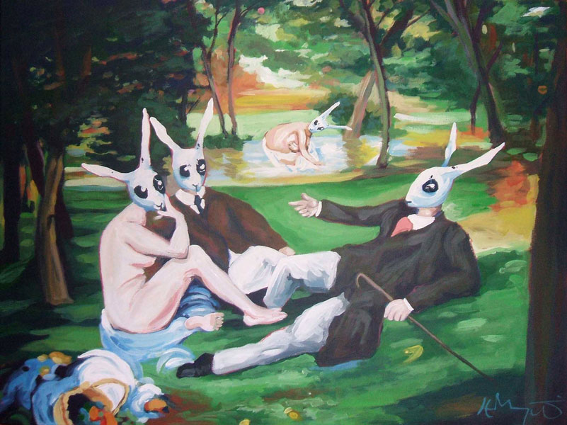 The Rabbit Picnic by HillaryWhiteRabbit