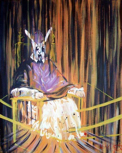 Screaming Rabbit Pope X by HillaryWhiteRabbit on DeviantArt Francis Bacon Artist Screaming Pope