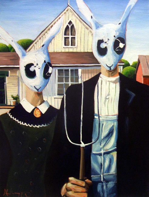 Rabbit Gothic by HillaryWhiteRabbit