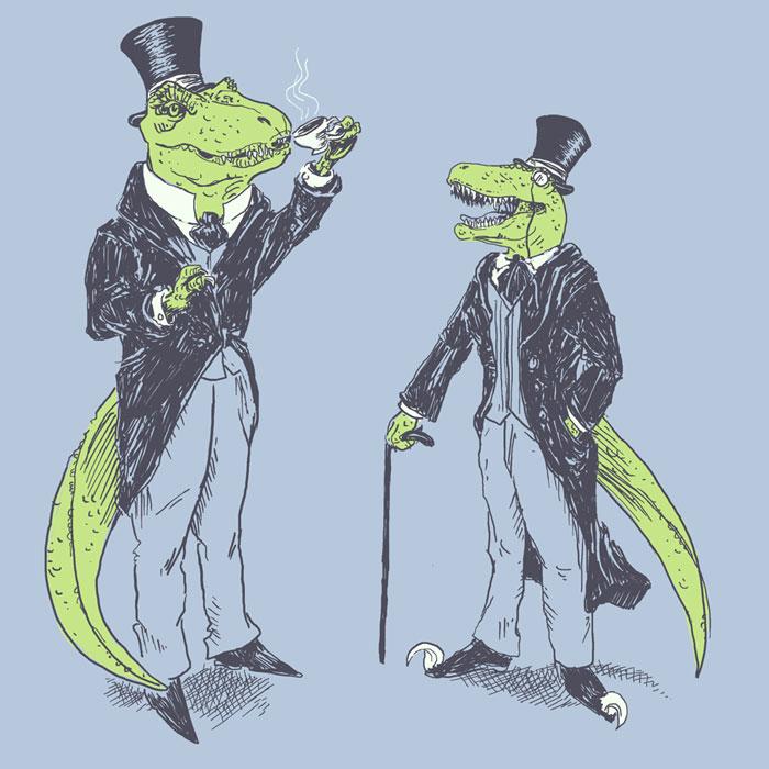 Tea Rex and Velo Sir Raptor by HillaryWhiteRabbit