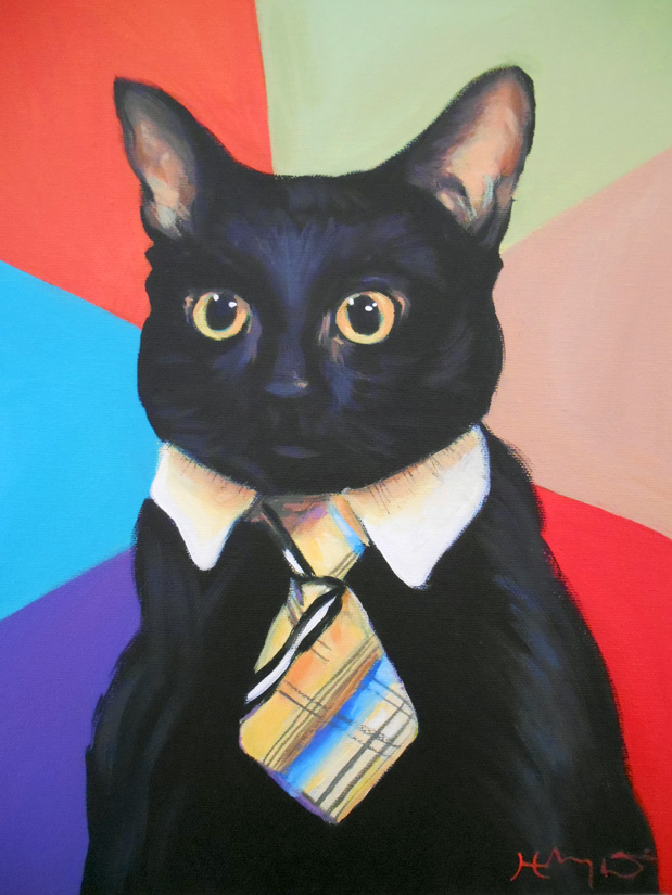 Business Cat by HillaryWhiteRabbit