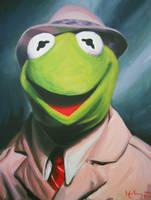 Frog Reporter by HillaryWhiteRabbit