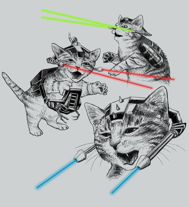 Kitten Riders by HillaryWhiteRabbit