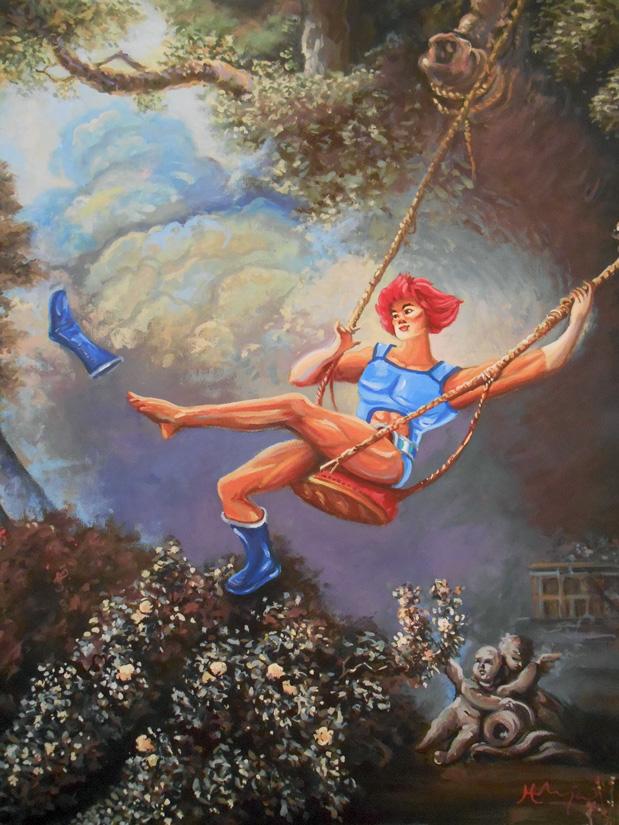 Thunder Swing by HillaryWhiteRabbit