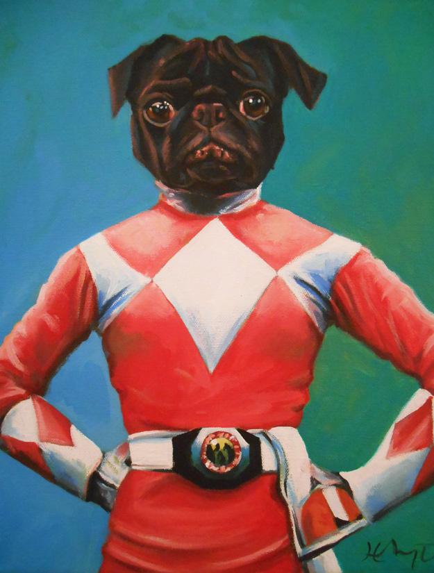 Naboo The Power Pug! by HillaryWhiteRabbit