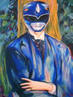Portrait Of A Blue Ranger by HillaryWhiteRabbit