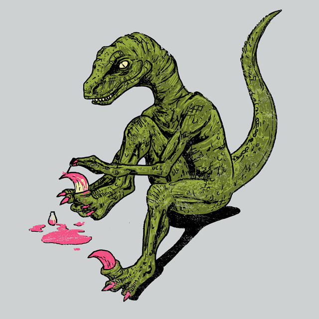 Jurassic Pedicure by HillaryWhiteRabbit