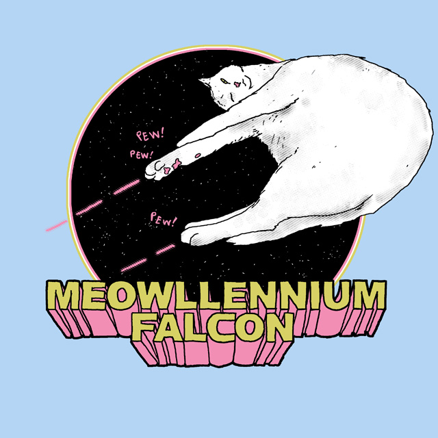 Meowllenium Falcon by HillaryWhiteRabbit