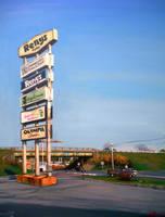 Reny's Plaza Sign