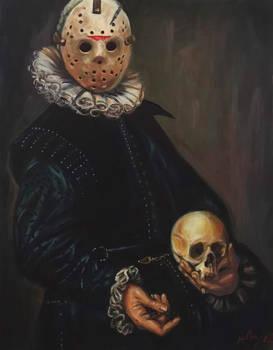 Portrait of a Maniac Holding a Skull