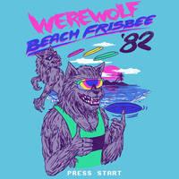 Werewolf Beach Frisbee by HillaryWhiteRabbit