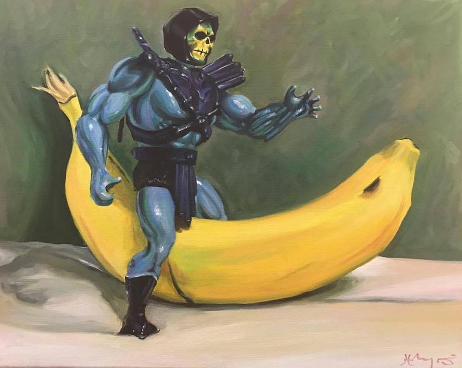 Skeletor Riding Bananor by HillaryWhiteRabbit