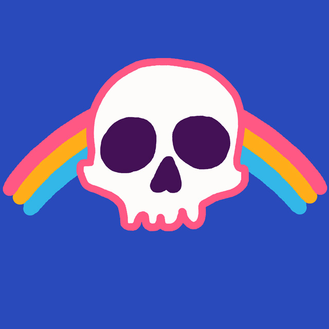 Rainbow Skull by HillaryWhiteRabbit