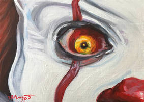 Lovers Eye: Pennywise by HillaryWhiteRabbit