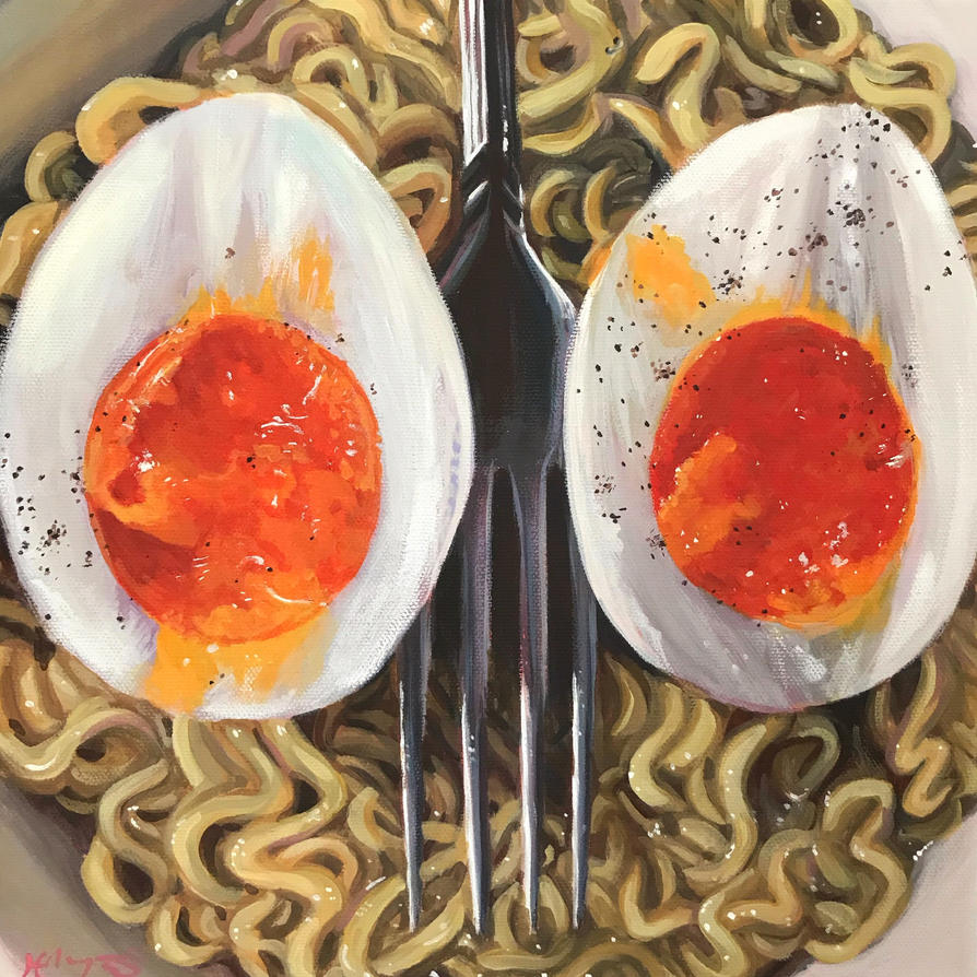 Ramen Owl Face by HillaryWhiteRabbit