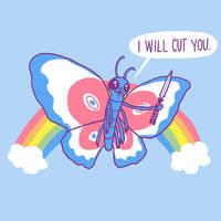 Butterfly Knife by HillaryWhiteRabbit