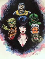 Elvira Mistress of the Dark by HillaryWhiteRabbit