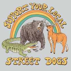 Street Dogs by HillaryWhiteRabbit