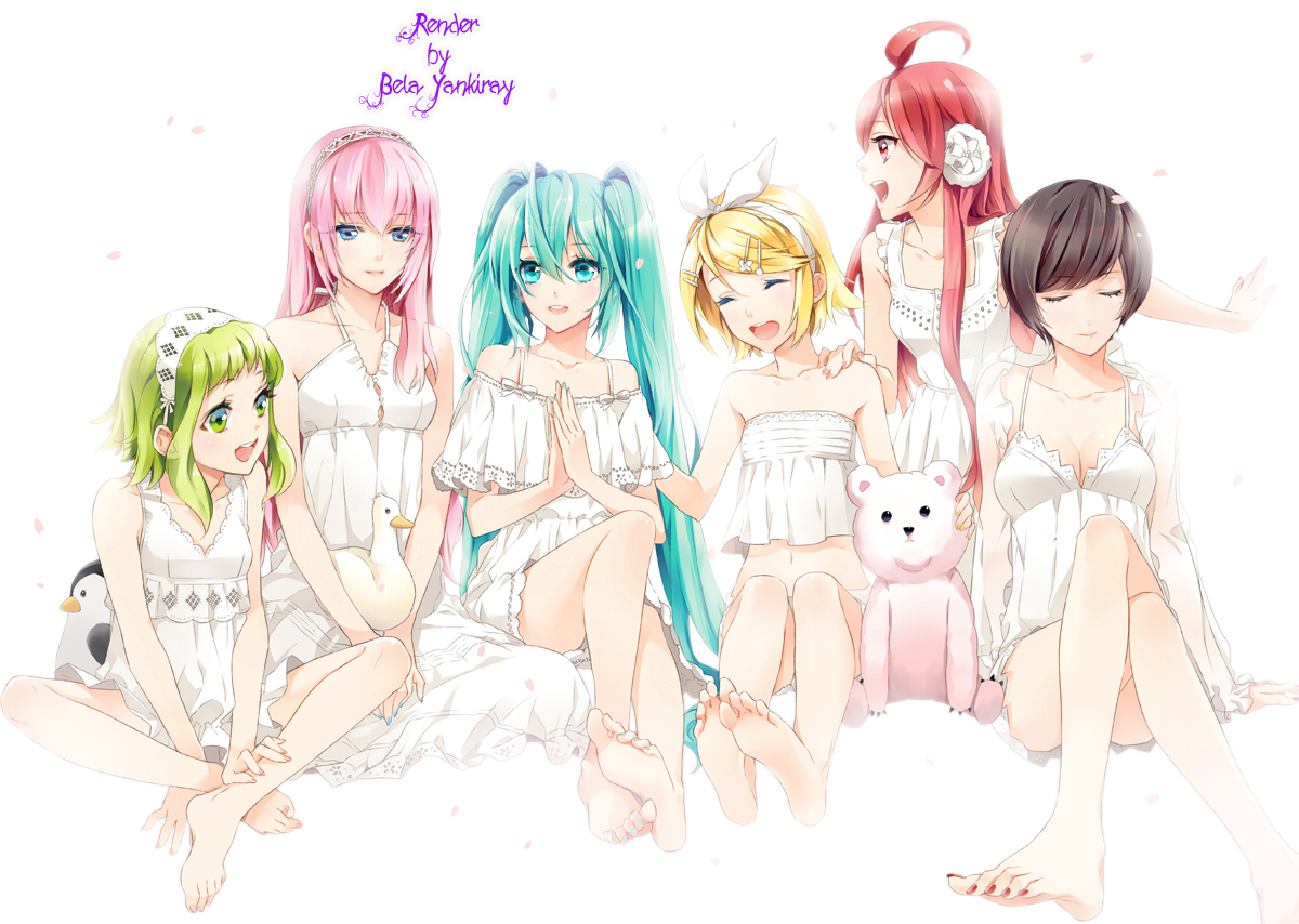 Render 6 chicas vocaloid by lunacreciente