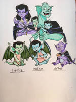 Angela and Broadways Hatchlings by EmilyDfan