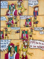 Jackal And Hyena MEAN Santas by EmilyDfan