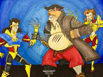 Cyborg Pirate VS Cyborg Twins 2 by EmilyDfan