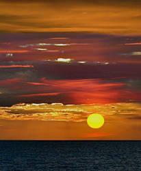 sunset over the sea by SvitakovaEva