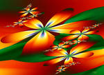 Summer floral wallpaper