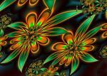 autumn flowers - ultra fractal