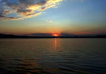 lake in the evening by SvitakovaEva