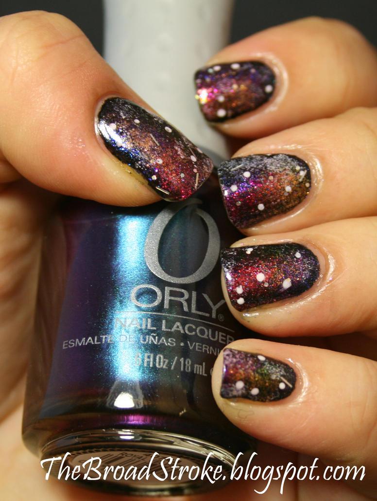 Nail Art: Galaxy Nails by ProlificMuse on DeviantArt