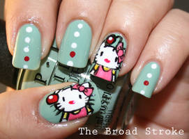 Nail Art: Hello Kupo by ProlificMuse