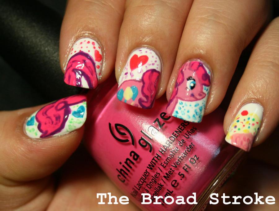 Nail Art: Pinkie Pie by ProlificMuse