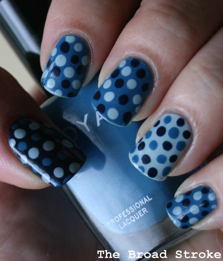 Blue Polka Dots by ProlificMuse