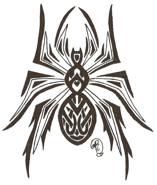 creepy crawly tribal spider by darkdragonrising on deviantart. Black Bedroom Furniture Sets. Home Design Ideas