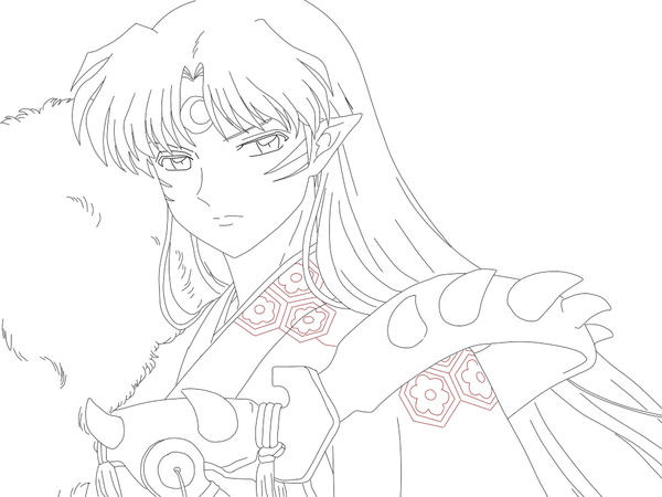 sesshoumaru coloring pages - photo#16