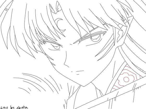 sesshoumaru coloring pages - photo#25