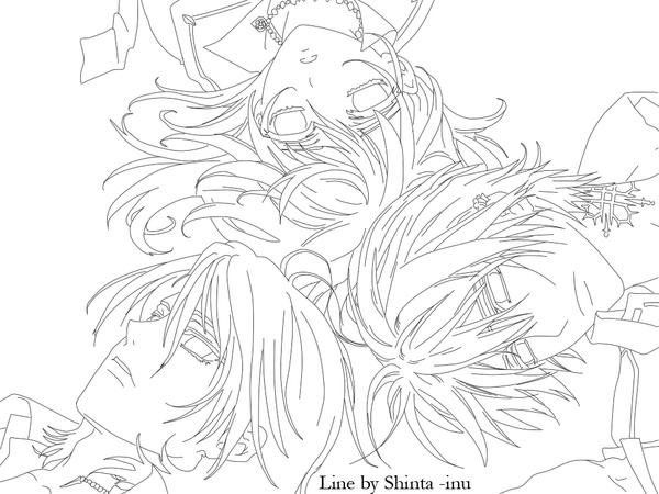 anime vampire knight coloring pages - photo#11