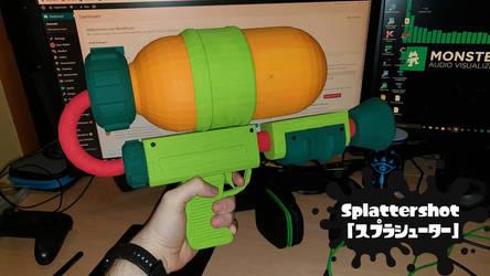 3D Printed Splattershot from Splatoon