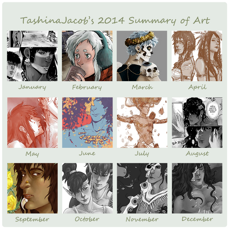 2014 Summary of Art by TashinaJacob