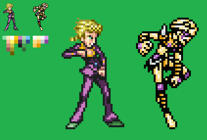 Giorno Giovanna Gold Experience Anime Palette By Lauty18 On Deviantart