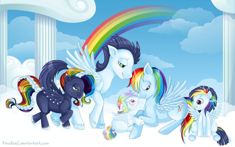 картинка радуга мои маленькие пони